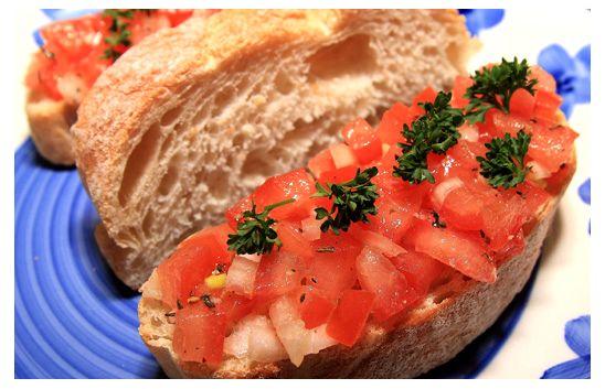 Buscetta mit Tomaten